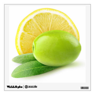 Olive and lemon wall decal