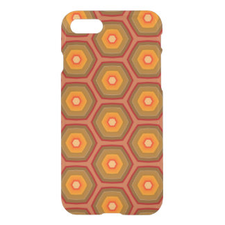 Olive and Red Autumn Mosaic Pattern iPhone 8/7 Case