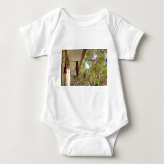 OLIVE BACKED BIRD QUEENSLAND AUSTRALIA BABY BODYSUIT