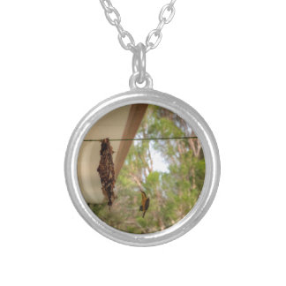 OLIVE BACKED BIRD QUEENSLAND AUSTRALIA SILVER PLATED NECKLACE