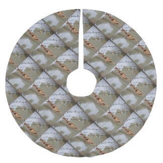 OLIVE BACKED SUNBIRD IN NEST AUSTRALIA BRUSHED POLYESTER TREE SKIRT