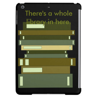 Olive Black Stack of Books Geeky Library iPad Air Case