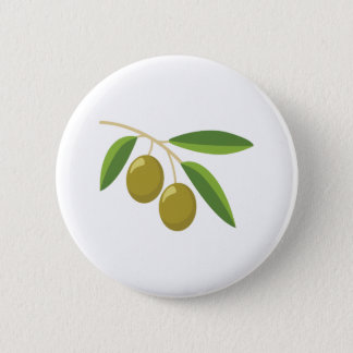 Olive Branch 2 Inch Round Button