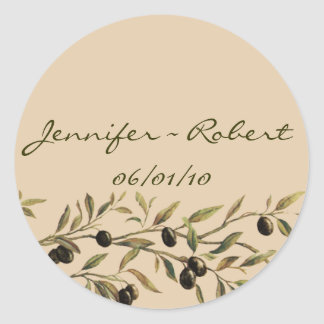 Olive Branch: A Tuscan Touch Classic Round Sticker