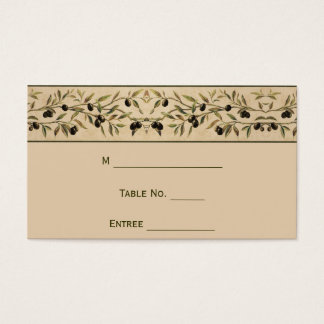 Olive Branch: A Tuscan Touch Place Card