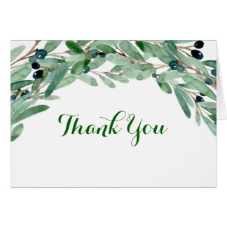 Olive Branch Bridal Shower Thank You Card