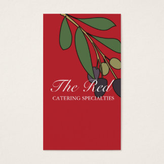 olive branch chef catering business card, The R... Business Card