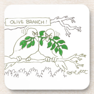 Olive branch! drink coasters