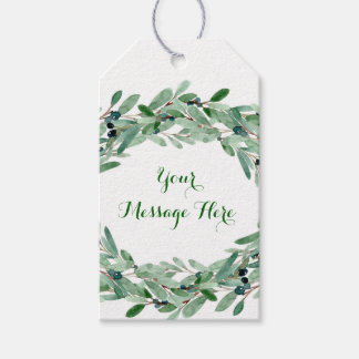 Olive Branch Floral Bridal Shower Gift Tags