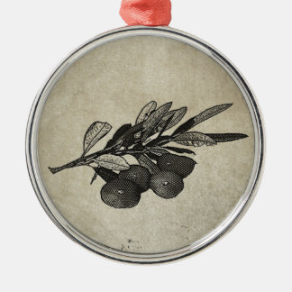 Olive Branch Metal Ornament