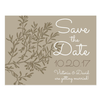 Olive Branch Save the Date Postcard