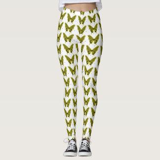 Olive-Butterfly--FUN-DESIGN'S (c) -LEGGING'S_XS-XL Leggings