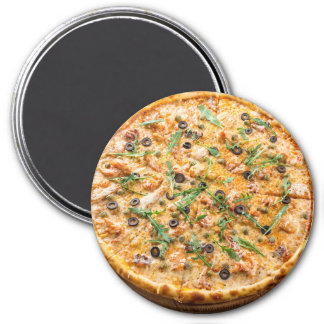 Olive Cheese Pizza Refrigerator Magnet