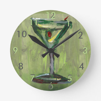 Olive Contemporary Designer Clock Martini Gibson