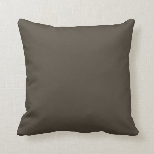 Olive Dark Green Solid Trend Colour Background Throw Pillow