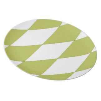 Olive--Diamond-Harlequin-Stylish-Everyday Party Plates