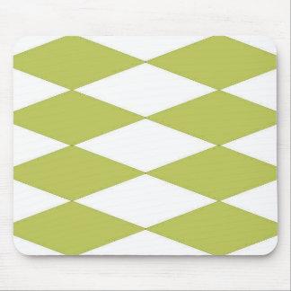 Olive-Diamond's-Mod-Harlequin-Unisex Mouse Pad