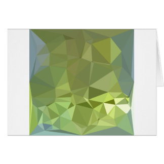 Olive Drab Abstract Low Polygon Background Card