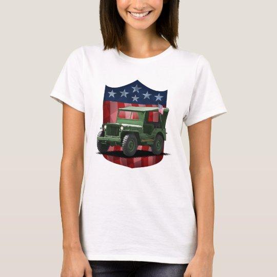 Olive Drab American Shield MJ olllllllo Ladies T T-Shirt
