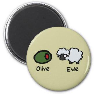 Olive Ewe Magnet