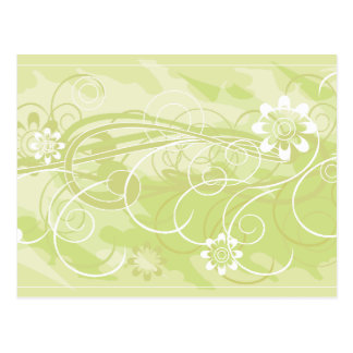 olive flowers postcard