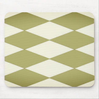 Olive-Fog--Diamond'-Sleek-Styled-Harlequin-Unisex Mouse Pad