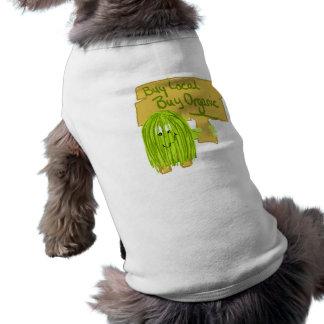 Olive Greeen Buy local Buy Organic Dog Tee Shirt