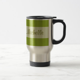 olive green Add your Name Travel Mug