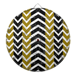 Olive Green and Black Whale Chevron Dartboard