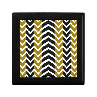 Olive Green and Black Whale Chevron Gift Box