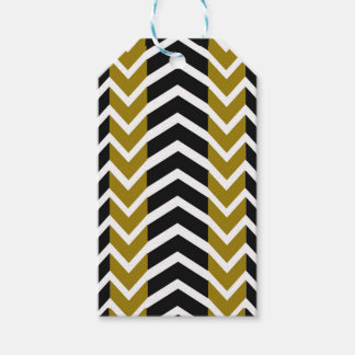 Olive Green and Black Whale Chevron Gift Tags