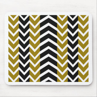Olive Green and Black Whale Chevron Mouse Pad
