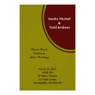 Olive Green and Brown Modern Wedding Stationery Paper
