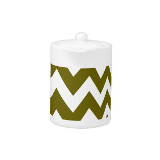 Olive Green and White Chevrons