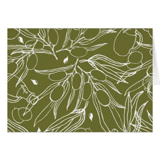 Olive green background card