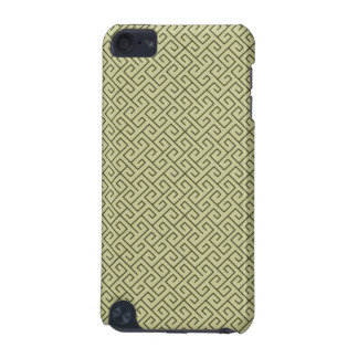 Olive Green Celtic Spiral Right Angle Lines iPod Touch 5G Covers
