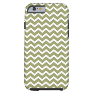 Olive Green Chevrons Pattern Tough iPhone 6 Case