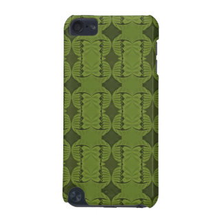 olive green deco pattern iPod touch 5G cover