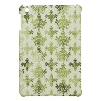 olive green distressed damask iPad mini case