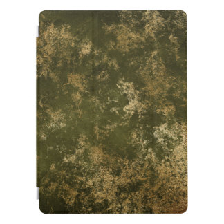 Olive Green Distressed Gold Texture Laptop Case iPad Pro Cover