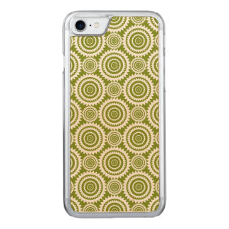Olive Green Geometric Design Cute Pattern Carved iPhone 8/7 Case