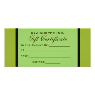 Olive Green Gift Certificate