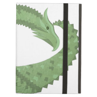 Olive green heart dragon on white case for iPad air