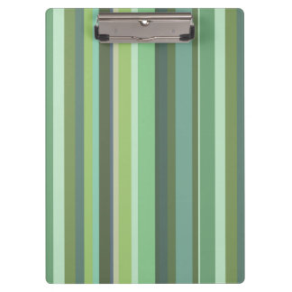 Olive green horizontal stripes clipboards
