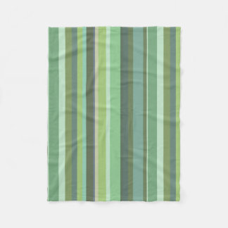 Olive green horizontal stripes fleece blanket