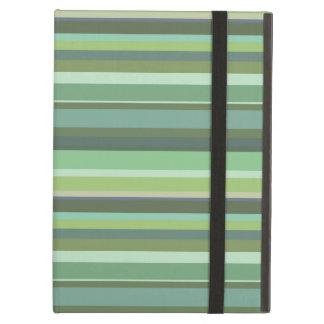 Olive green horizontal stripes iPad air case