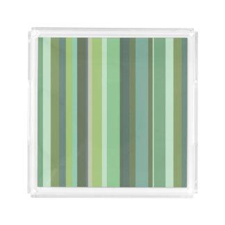 Olive green horizontal stripes serving tray