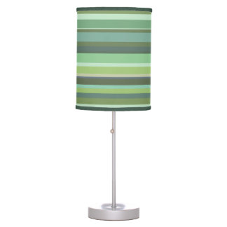 Olive green horizontal stripes table lamp
