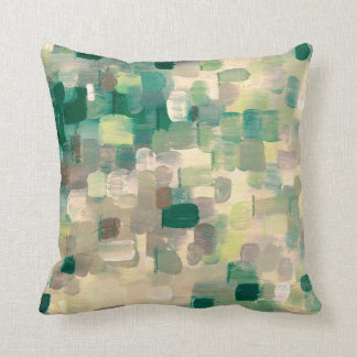 Olive Green Lime Tan & Grey Decor Pillow by Juul