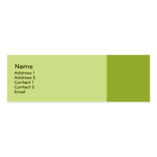 olive green mini business card